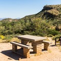 An Ironwood picnic site.- Ironwood Tent Sites