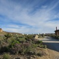 Spring in the desert brings cold nights and colorful wildflowers.- Hole-In-The-Wall Campground