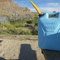 Always bring plenty of water when camping in the desert.- Hole-In-The-Wall Campground