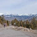 The road from Mammoth Hot Springs to Swan Flats is an uphill climb.- Grand Loop + West Yellowstone Tour