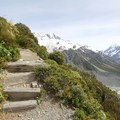 A couple of the thousands of steps on the way up to Sealy Tarns.- Mueller Hut Route