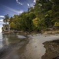 Chapel Rock.- Lakeshore-North Country Trail: Miners Beach to Beaver Creek