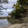 Small cove along the Lakeshore-North County Trail.- Lakeshore-North Country Trail: Miners Beach to Beaver Creek