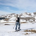 The windswept alpine coverage below Bancroft Ridge.- James Peak: Shooting Star Couloir