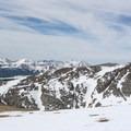 Looking west from the Bancroft Ridge.- James Peak: Shooting Star Couloir
