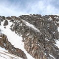 Starlight (left) and First Light (right) couloirs.- James Peak: Shooting Star Couloir
