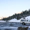 The Berthoud Pass parking lot.- Berthoud Pass Ski Area