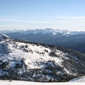 Looking north at the 110s, a backcountry ski area along Current Creek.- Berthoud Pass Ski Area
