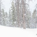 Heavy snow conditions at First Creek.- The Chimney: First Creek