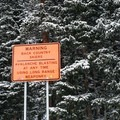 This is avalanche country! Be prepared for avalanche mitigation.- The Chimney: First Creek