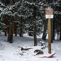 The Arapaho Trailhead at Second Creek.- The Chimney: First Creek