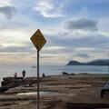 Kahe Point cliffs near the beach picnic area, no swimming here.- Kahe Beach Park / Electric Beach
