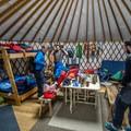 The spacious interior of the Geyser Pass Yurt.- Geyser Pass Yurt