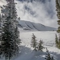 Mount Mellenthin as seen from the base of the mountain.- Mount Mellenthin Backcountry Ski