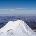 Desert views for hundreds of miles from the summit of Mount Mellenthin.- Mount Mellenthin Backcountry Ski