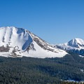 Mount Mellenthin viewed from the ridgeline north of the yurt.- Mount Mellenthin Backcountry Ski