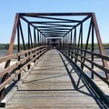 One of the many bridges that cross the river.- Santa Ana River Trail to Huntington Beach