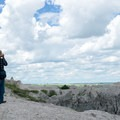 View from atop the ladder on the Notch Trail, Badlands National Park.- Notch Trail