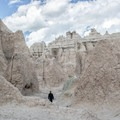 Walking the Notch Trail in Badlands National Park.- Notch Trail