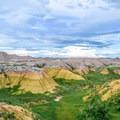 Yellow mounds in Badlands National Park.- Badlands National Park