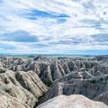 Badlands National Park landscape.- Badlands National Park