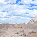 Panoramic view from the Window Trail in Badlands National park.- Badlands National Park