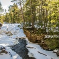 A view to upper Amnicon Falls as they are frozen.- Amnicon Falls State Park
