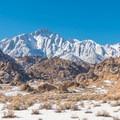 Lone Pine Peak viewed from the Alabama Hills.- Mobius Arch