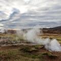 Seyðirinn burbles and bubbles.- Geysir and Strokkur