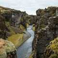 This canyon was carved out by glacial runoff.- Fjaðrárgljúfur
