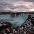 Walking around the western bank in the late fall.- Goðafoss