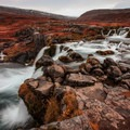 The first outlook over the lower falls.- Dynjandi (Fjallfoss)