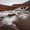 Water rushing over the rocks.- Dynjandi (Fjallfoss)