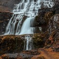 Continuing to hike up the trail along the bank.- Dynjandi (Fjallfoss)