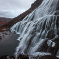 The trail continues up the side of the mountain.- Dynjandi (Fjallfoss)