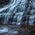 Walk up to the water and experience its power.- Dynjandi (Fjallfoss)