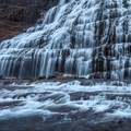 A pathway leads right up to the base of the falls.- Dynjandi (Fjallfoss)
