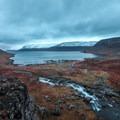 Looking across Dynjandisvogur to the bay.- Dynjandi (Fjallfoss)