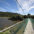 A newer suspension bridge.- New Zealand Great Walks: Heaphy Track