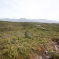 Looking down at Mackay Hut.- New Zealand Great Walks: Heaphy Track