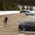 The parking area.- McCullough Gulch