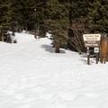 Quandry Peak signage.- McCullough Gulch