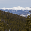 Mountains in the distance.- McCullough Gulch