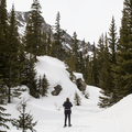 Snowshoeing up the trail.- McCullough Gulch