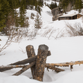 An old cabin.- McCullough Gulch