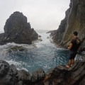 The lower rock jump. Higher ones are up to the right, but they are dangerous to climb.- The Mokulua Islands