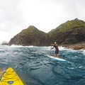 Paddling around the island, the ocean starts to get a lot deeper just off of here. Humpback whales can be spotted during the winter months.- The Mokulua Islands