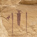 The Head of Sinbad pictograph is extremely well preserved.- Head of Sinbad