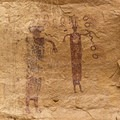 The two figures to the left on the same wall.- Head of Sinbad
