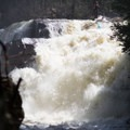 The lip of Rainbow Falls can feel chaotic.- Middle Branch of the Oswegatchie: Section 4